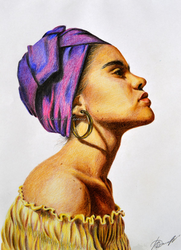 african_woman_drawing_by_rustamova-d7byd6a